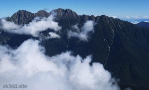 笠ヶ岳から見た穂高連峰