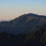 夕刻の仙丈ケ岳